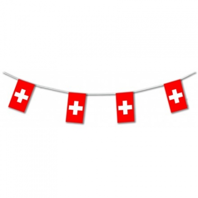 Switzerland International Flag Bunting
