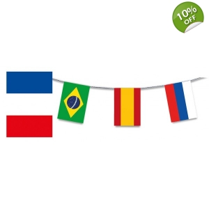 Soccer World Cup 2018 bunting 32 countries