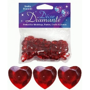 Heart Shaped Diamantes 28g Ruby