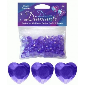 Heart Shaped Diamantes 28g Lavendar