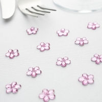 Flower Shaped Table Diamantes - Pink