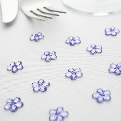 Flower Shaped Table Diamantes - Lilac