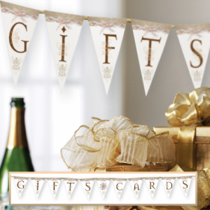 Rustic Gifts & Cards Wedding Banner