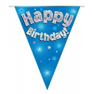 Blue Happy Birthday Bunting