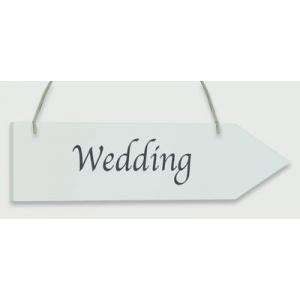 Whitewash Wooden Arrow - Wedding