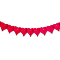 Red Heart Honeycomb Garland