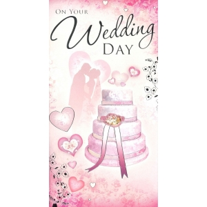 Pink On your Wedding Day Card
