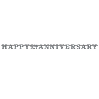 25th Anniversary Prismatic Letter Banner