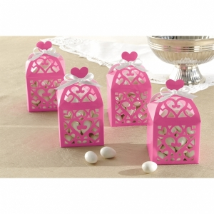 Lantern Favour Boxes -Hot Pink- Pack of 50