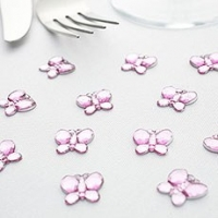 Pink Butterfly Shaped Diamantes