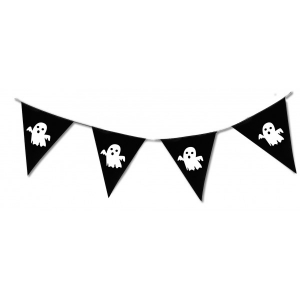 Ghost Halloween Pennant Bunting