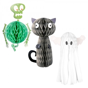 Set of 3 Halloween Honeycomb Decorations