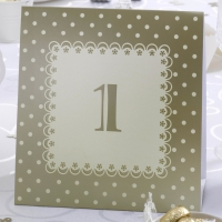 Ivory and Gold Chic Boutique Table Number Tent Cards