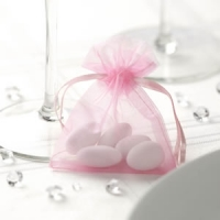 Pink Organza Bags pack of 10