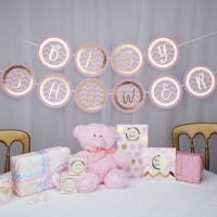 Pink Pattern Works Baby Shower Bunting