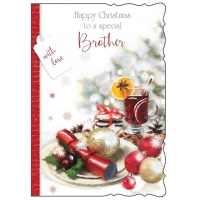 Happy Christmas to a Special Brother Christmas Card