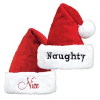 Naughty and Nice Santa Hats