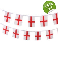 St Georges Day Polyester Bunting 19ft