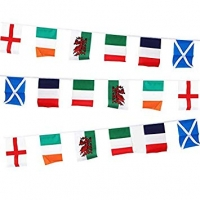 Six Nations Multi Flag Rugby Polyester Bunting