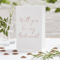 Rose Gold Will you be my Bridesmaid Cards