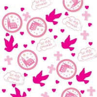 First Holy Communion Pink Confetti - 14g