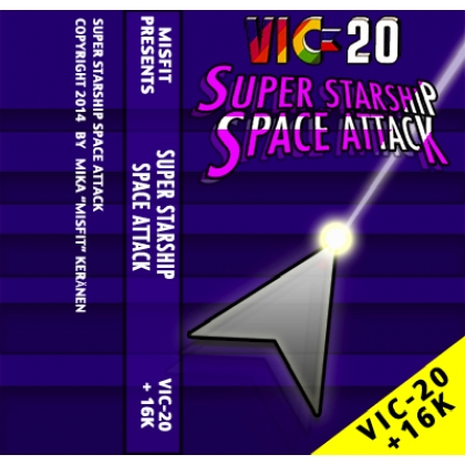 SUPER STARSHIP SPACE ATTACK   VIC 20+16K RAM on cassette