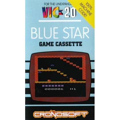 BLUE STAR  VIC 20 unexpanded on cassette