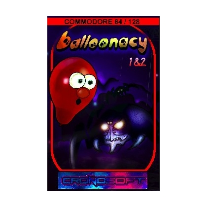 BALLOONACY 1&2 - Commodore 64 cassette