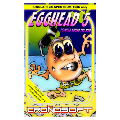 EGGHEAD 5 - Egghead Round The Med - ZX Spectrum 128K