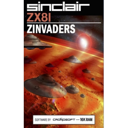 ZINVADERS - Sinclair ZX81 + 16K RAM, on cassette