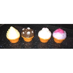 Set of 4 cupcake latex moulds