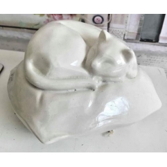 Latex mould for making sleeping cat