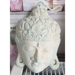 Latex mould for making this buddha face plaque
