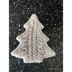 Latex mould for small chunky xmas tree candle/soap