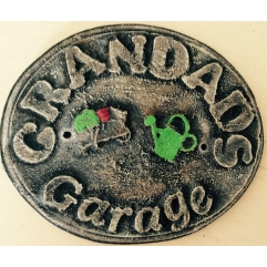 Grandads garage plaque