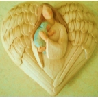 Angel with Baby Plaque Details
