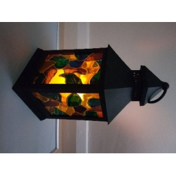 Stained Glass Effect Lantern