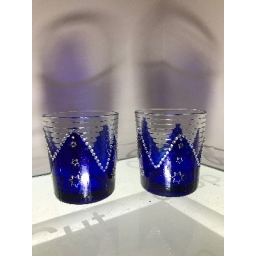 Pair of Blue Star Glasses