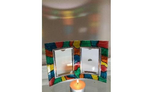 Stain Glass Effect Picture Frame