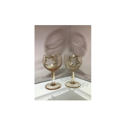 Pair of Gold Star Glass