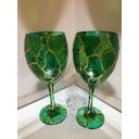 Pair of Green Multi glass