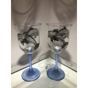 Pair of Dolphin Glass