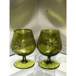Small Green Brandy Style Glass