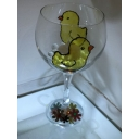 Easter Chick Teddy glass