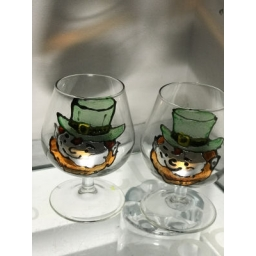 Leprechaun glass