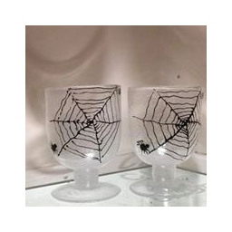 Spider web bubble glass