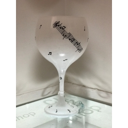 White Music Gin Glass