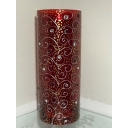 Red Swirly Vase