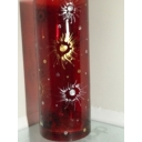 Red Swirl Burst Vase