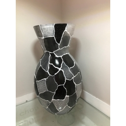 Large Multi Black Vase